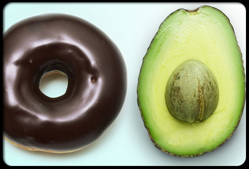 cholesterol-101-s16-photo-of-donut-and-avocado