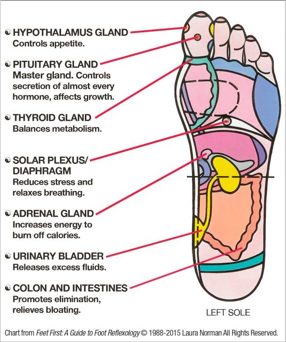 Акупресура на стъпалото: 7 точки за снижаване на стреса и стимулиране на метаболизма