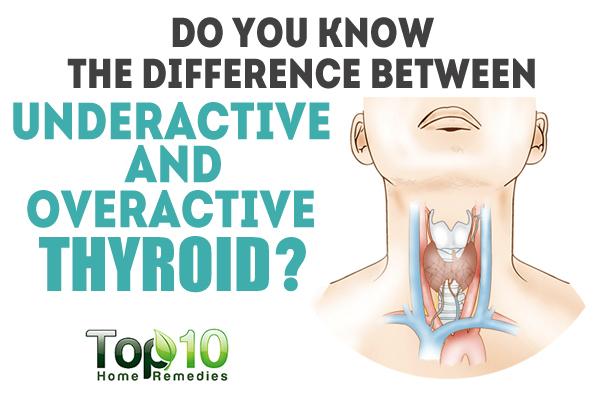Вижте разликата между недостатъчно активна и свръхактивна щитовидна жлеза плюс 10 съвета