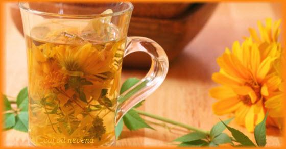 Чай от невен, равнец и коприва срещу кисти
